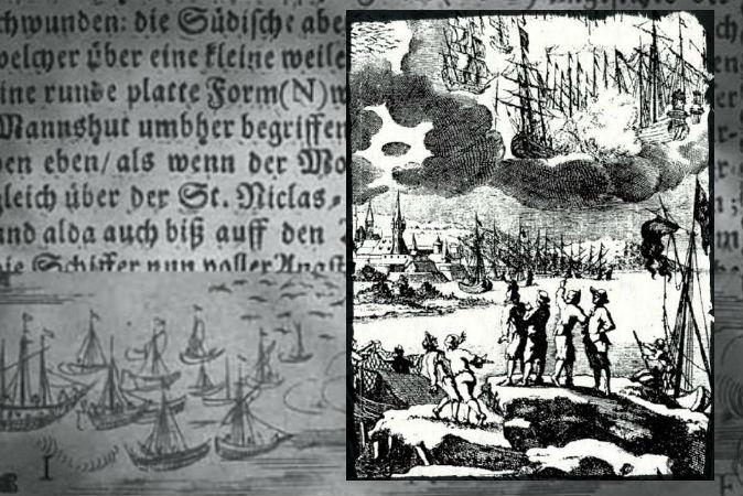 En 1665, plusieurs ont vu une bataille d'ovnis et ont été malades ensuite