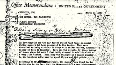 Mémo déclassifié du FBI: des soucoupes volantes avec 9 extraterrestres dedans ?