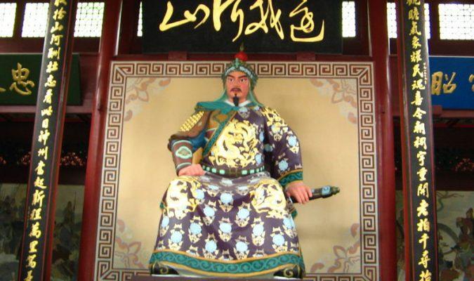 Le Moine Bouddhiste Feng Bo garde sa droiture en balayant le visage du ministre Qin Hui