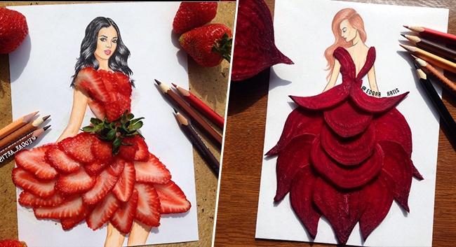 Des robes aussi glamours que gourmandes