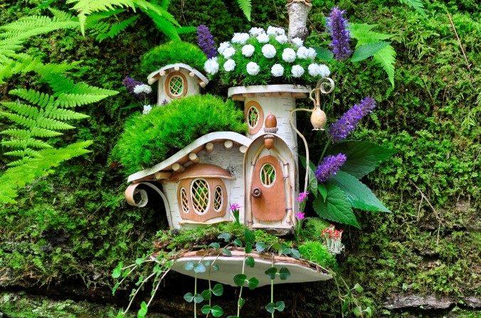 L'art environnemental et les maisons de fées