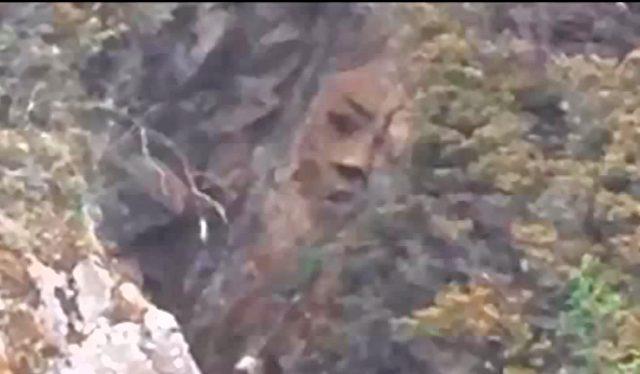 Canada: découverte d'un visage mystérieux géant dans une roche