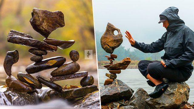 D'étonnantes pierres en équilibre qui semblent défier les lois de la physique