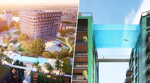La première piscine en plein ciel à 35m au dessus de Londres