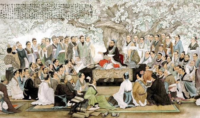 Les disciples de Confucius l'interrogent concernant la Bienveillance