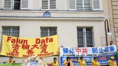 Manifestation devant l'ambassade de Chine pour faire cesser la persécution du Falun Gong