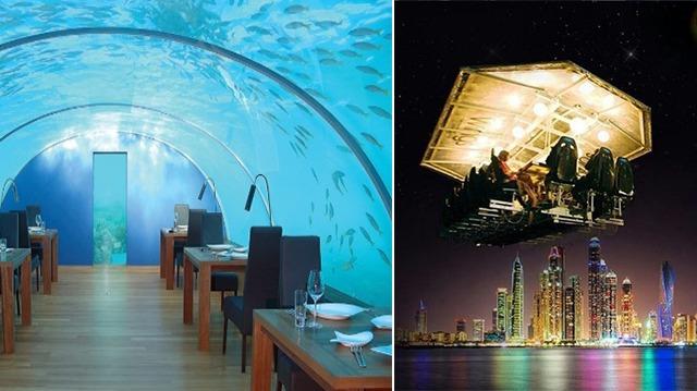 10 restaurants vraiment étonnants qui vous épateront!