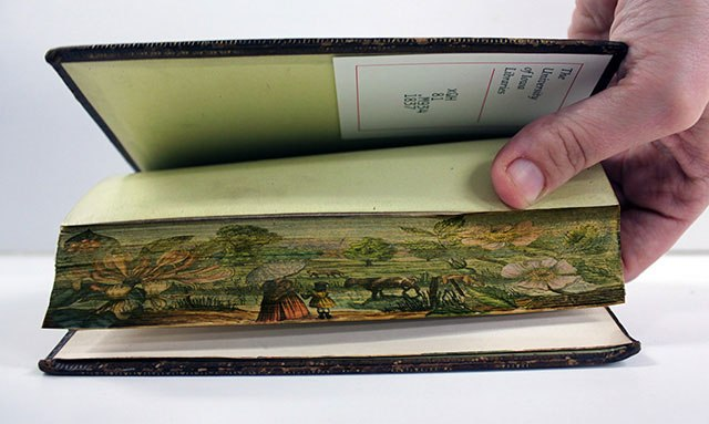 20 œuvres cachées peintes sur les bords de livres anciens