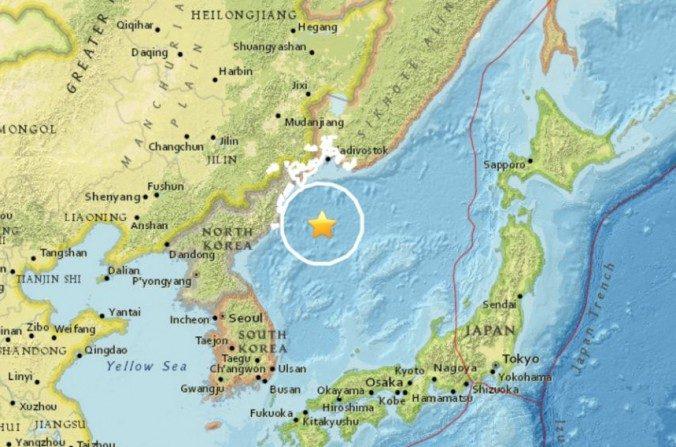 Un tremblement de terre sous-marin frappe au large de la Corée du Nord
