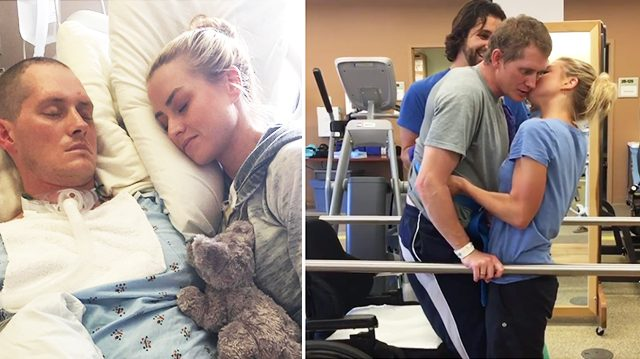 Emouvantes retrouvailles entre une femme et son mari militaire sortant de deux mois de coma