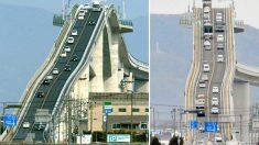 Frissons garantis! 7 photos d'un pont japonais pas comme les autres