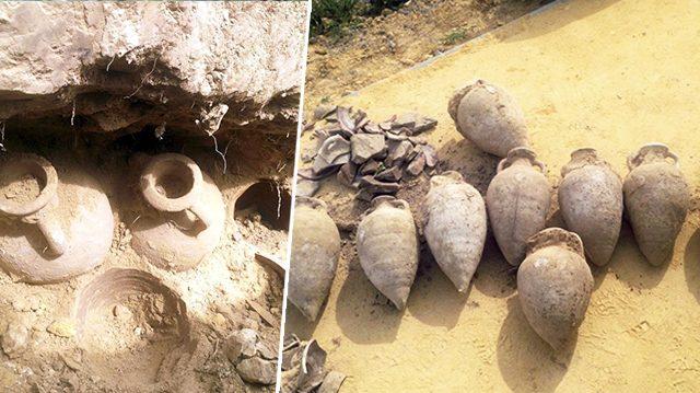 Des ouvriers espagnols déterrent par hasard 19 urnes romaines remplies de pièces antiques