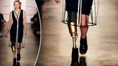 De retour sur le podium, alors qu'une infection lui a fait perdre sa jambe, ce mannequin dit qu'elle est une meilleure personne
