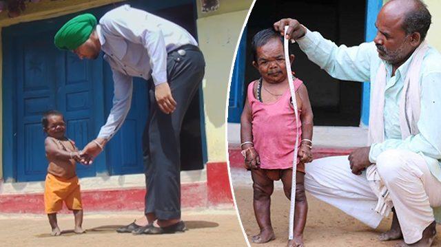 Le «petit garçon» de 50 ans qui a cessé de grandir à l'âge de 5 ans est maintenant une célébrité locale respectée par le village entier