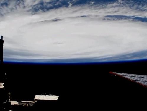 Un visage effrayant apparaît dans une vidéo d'Irma capturée par la NASA