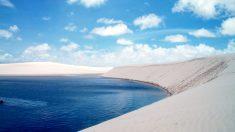Ces belles lagunes se forment naturellement entre les dunes de sable brésiliennes