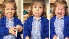 Cette petite fille était ravie d'apprendre qu'elle serait grande soeur – avant d'éclater en sanglot en apprenant que ce serait un garçon !
