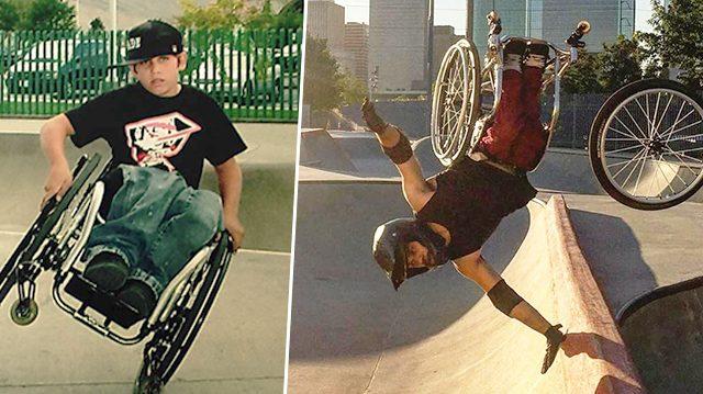 Faites la connaissance de ce «Superman sur les roues» de 25 ans qui vous laissera stupéfait avec ses cascades en fauteuil roulant incroyables!