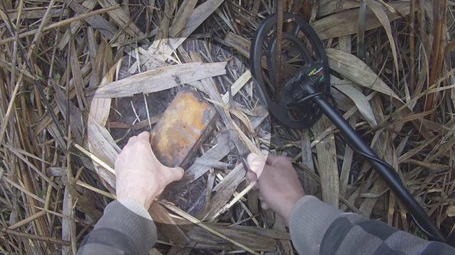 un chasseur de tr sor australien trouve une bo te en m tal dans un mar cage de bambou est ce. Black Bedroom Furniture Sets. Home Design Ideas