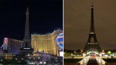 À la suite des attaques terroristes ayant frappé la ville de Paris il y a deux ans, Las Vegas fut plongée dans le noir. Cette semaine, Paris rend hommage à Las Vegas de la même manière