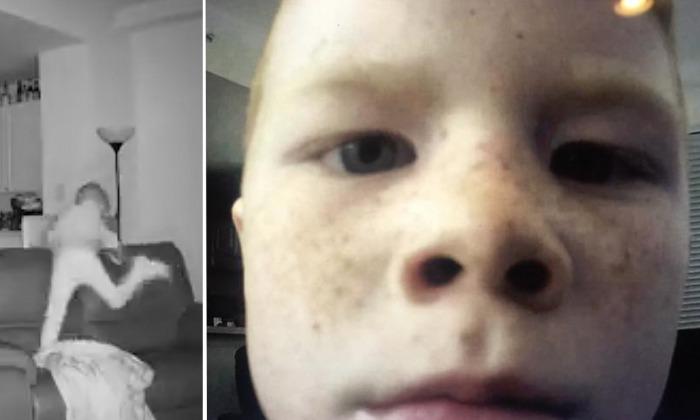 Un fils raconte à son père qu'il se réveille parfois à 2h du matin. Mais après avoir vérifié les images de la caméra de surveillance: «Il tripe comme un fou»
