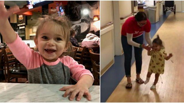 Une jeune enfant qui souffrait d'une maladie rare tombait 100 fois par jour et doit maintenant réapprendre à marcher