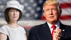 La Chine met en garde cette dame de «ne pas contacter Trump», alors elle écrit une lettre ouverte exposant l'incroyable
