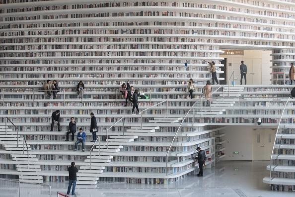 Bibliothèque futuriste en Chine: «grosse différence entre les photos et la réalité»