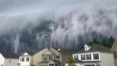 LafindumondeàHinesville ?Des nuages apocalyptiques recouvrentla ville de Géorgie