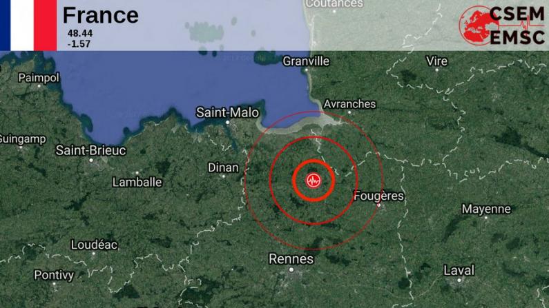 Un séisme de magnitude 3,3 au nord de Rennes — Ille-et-Vilaine