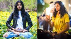 Le mannequin Pooja Mor partage comment une méditation l'aide à garder son équilibre dans le monde du glamour