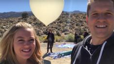Un couple décide de faire une vidéo pour annoncer le sexe de leur bébé – dans l'espace