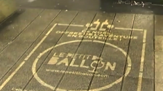 La publicité éphémère sur les trottoirs de plusieurs villes françaises