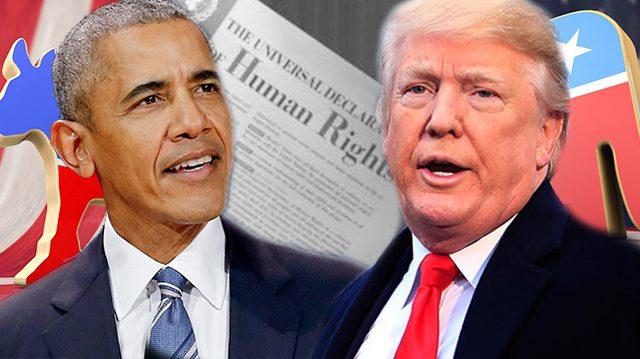 Obama versus Trump droits de lhomme et politique trangre