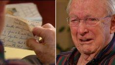 Une lettre d'amour d'il y a 70 ans bouleverse un vétéran de la Seconde Guerre mondiale, une surprise émouvante pour la Saint-Valentin