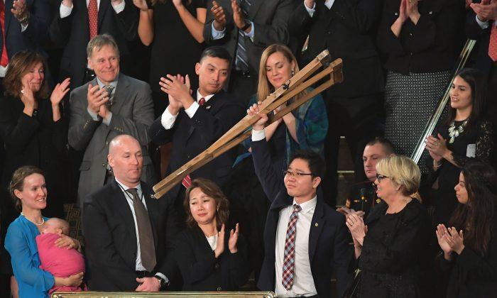 Le transfuge nord-coréen, puissant symbole de liberté, au cours du discours sur l'état de l'Union