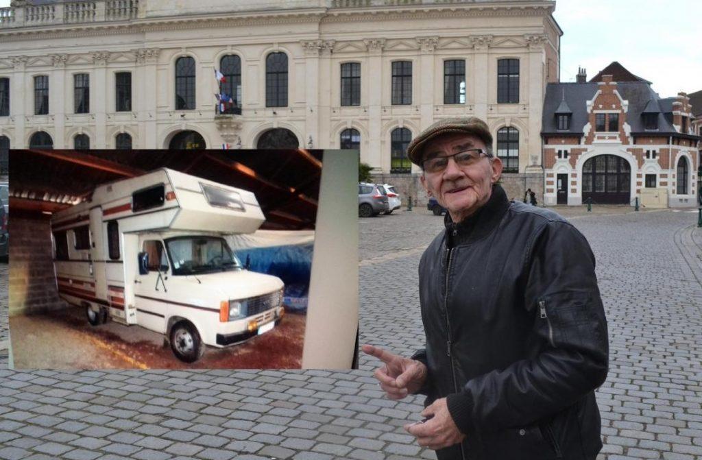 nord ce retrait vivait dans sa voiture un pompier d cide de lui donner son camping car. Black Bedroom Furniture Sets. Home Design Ideas
