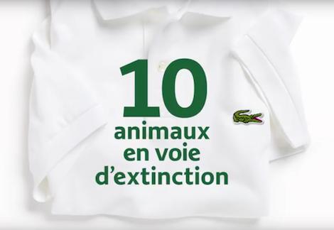 Lacoste modifie son célèbre logo pour sauver les espèces en voie d'extinction