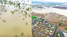 Des inondations transforment une ville australienne en île