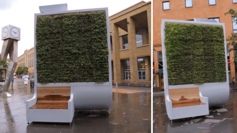 Ce banc filtre autant d'air que 275 arbres – une bonne idée pour dépolluer les villes