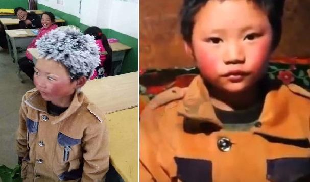 Le garçon chinois aux cheveux gelés a finalement été renvoyé de sa nouvelle école, qui ne supportait pas le tapage médiatique