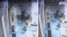 Ces images montrent un bris de verre dans une maison de vente aux enchères vide - s'agit-il d'une preuve d'activité paranormale ?