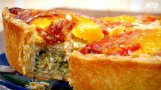 Essayez cette délicieuse quiche aux légumes et au poulet. La cuisine maison a toujours meilleur goût!