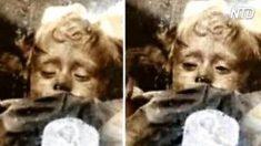 La momie de cette petite fille est vieille de 100 ans, mais des clichés montrent qu'elle semblerait cligner des yeux