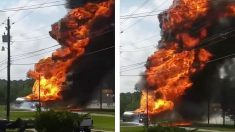 Un camion-citerne s'enflamme dangereusement aux États-Unis