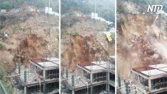 On aurait dit que quelques rochers tombaient d'une montagne - puis l'impensable se produit