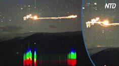 Des lumières mystérieuses apparaissent dans le ciel norvégien - on dit que ce sont des OVNIS qui ont été filmés