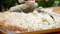 Ce poisson entier cuit au four dans une croûte de sel est si délicieux et facile à préparer !