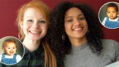 Ces deux sœurs jumelles ont beau avoir les mêmes parents, elles ne se ressemblent vraiment pas: l'une est noire et l'autre blanche!