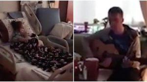 Une fillette était triste après avoir été hospitalisée pendant des mois – puis un gentil infirmier arrive avec sa guitare